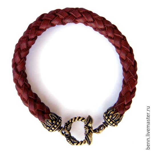 Браслеты ручной работы. Ярмарка Мастеров - ручная работа. Купить Кожаный браслет коричневый (2) Мужской браслет Браслет женский Подарок. Handmade.