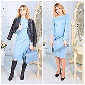 Платья ручной работы. Ярмарка Мастеров - ручная работа Платье для беременных и кормящих мам нежно голубое. Handmade.