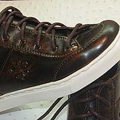 Обувь ручной работы. Ярмарка Мастеров - ручная работа кеды кожаные. Handmade.
