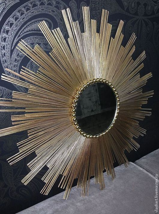 """Зеркала ручной работы. Ярмарка Мастеров - ручная работа. Купить Зеркало настенное """"Версаль-мини"""". Handmade. Золотой, декор для дома"""