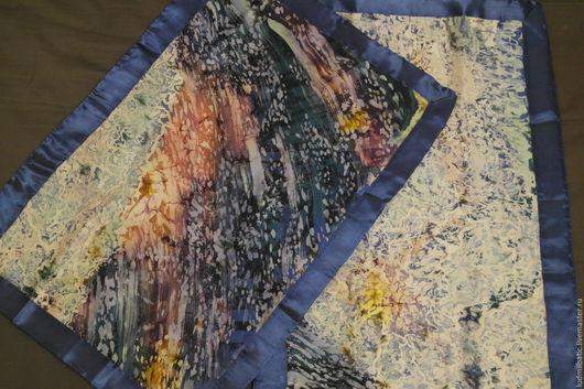 """Текстиль, ковры ручной работы. Ярмарка Мастеров - ручная работа. Купить Комплект наволочек """"Космос"""". Handmade. Тёмно-синий, Батик"""