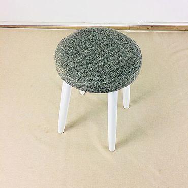 Мебель ручной работы. Ярмарка Мастеров - ручная работа Табурет модель LUNA SOFT рогожка. Handmade.