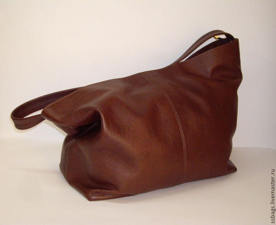 Bag from soft genuine leather cognac brown, Sacks, St. Petersburg,  Фото №1