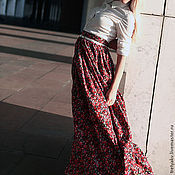Одежда ручной работы. Ярмарка Мастеров - ручная работа Юбка в пол/юбка летняя/длинная юбка/пышная юбка. Handmade.