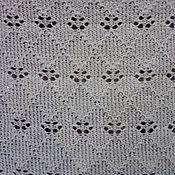 Материалы для творчества handmade. Livemaster - original item Knitted fabric yardage press + openwork DAISY PRICE is FOR 1 METER. Handmade.