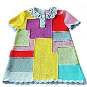 Одежда детская handmade. Livemaster - original item Crocheted baby dress multi-Colored rectangles. Handmade.