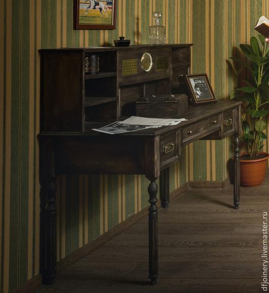 Мебель ручной работы. Ярмарка Мастеров - ручная работа. Купить Старинный стол Детектива. Handmade. Старинный стиль, натуральное дерево