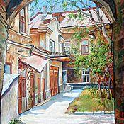 Картины и панно handmade. Livemaster - original item Pictures: A cozy den.( Courtyard on Gorky street). Handmade.