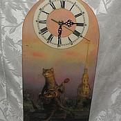 """Для дома и интерьера ручной работы. Ярмарка Мастеров - ручная работа Настенные часы """"Самый симпатичный во дворе"""". Handmade."""