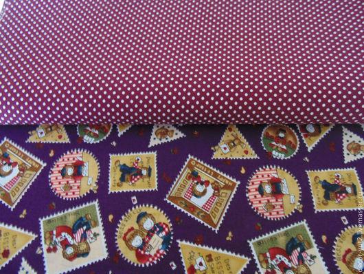 """Шитье ручной работы. Ярмарка Мастеров - ручная работа. Купить Набор ткани """"Фиолет"""". Handmade. Тёмно-фиолетовый, хлопок 100%"""