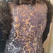 Одежда handmade. Livemaster - original item Vest with fur