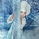 Детские карнавальные костюмы ручной работы. Ярмарка Мастеров - ручная работа. Купить Карнавальный костюм.  Снегурочка. Handmade. Голубой, бисер