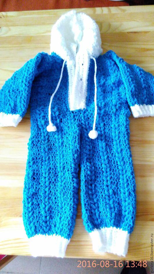 Одежда ручной работы. Ярмарка Мастеров - ручная работа. Купить Комбинезончик для малыша. Handmade. Синий