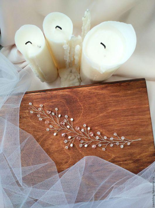 Свадебные украшения ручной работы. Ярмарка Мастеров - ручная работа. Купить Свадебное украшение для волос. Handmade. Комбинированный, свадебная заколка