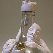 Для дома и интерьера ручной работы. Ярмарка Мастеров - ручная работа декорированная бутылка Саламандры. Handmade.