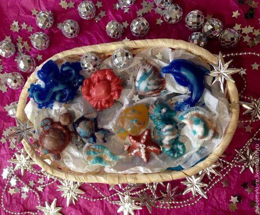 Подарочный набор мыла Дары Моря.  Косметика ручной работы.