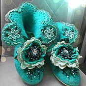 Обувь ручной работы handmade. Livemaster - original item felted Slippers women`s