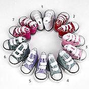 Материалы для творчества handmade. Livemaster - original item Accessories for dolls and toys: Sneakers for dolls 3,2 cm. Handmade.