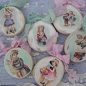 """Подарки к праздникам ручной работы. Ярмарка Мастеров - ручная работа Игрушки-подвески """" Винтажные"""" , набор 6 штук. Handmade."""