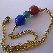 Украшения handmade. Livemaster - original item Mini bracelet ruby Emerald Sapphire, with gold-plated. a chain 14 Karat.. Handmade.