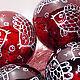 Новогодние елочные шары с рыбками Чешское стекло Диаметр: 11 см