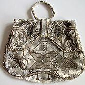 handmade. Livemaster - original item Antique Art Deco Beaded Handbag Czechoslovakia Signed. Handmade.