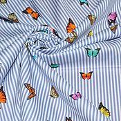 Ткани ручной работы. Ярмарка Мастеров - ручная работа Хлопок тонкий Roberto Cavalli, Италия. Handmade.