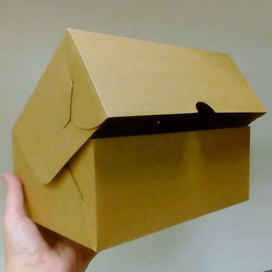 Упаковка ручной работы. Ярмарка Мастеров - ручная работа. Купить Коробка 25х17х10 см МГК. Handmade. Крафт, коробка крафт