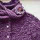 """Кофты и свитера ручной работы. Ярмарка Мастеров - ручная работа. Купить Жакет с брошью """"Пурпурная роза"""". Handmade. Мода, лето"""