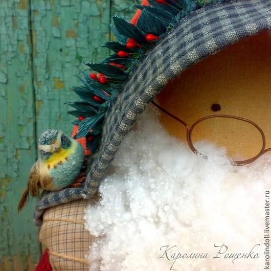 Коллекционные куклы ручной работы. Ярмарка Мастеров - ручная работа. Купить Старый Новый год. Handmade. Ярко-красный, рождество, текстиль