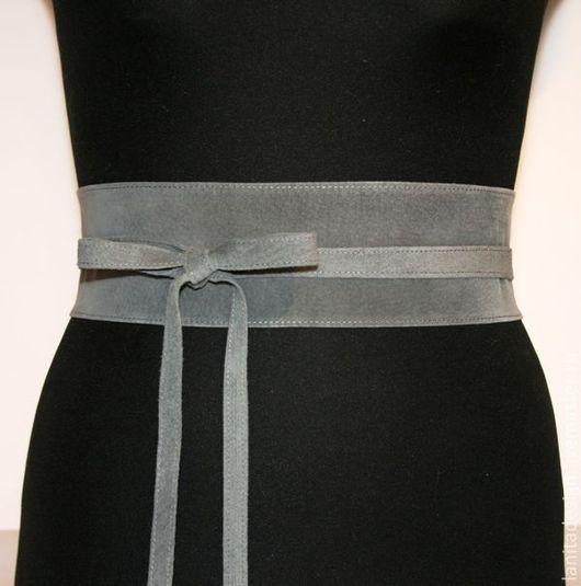 """Пояса, ремни ручной работы. Пояс из замши """"Grey 7"""". Lanita Design. Ярмарка Мастеров."""