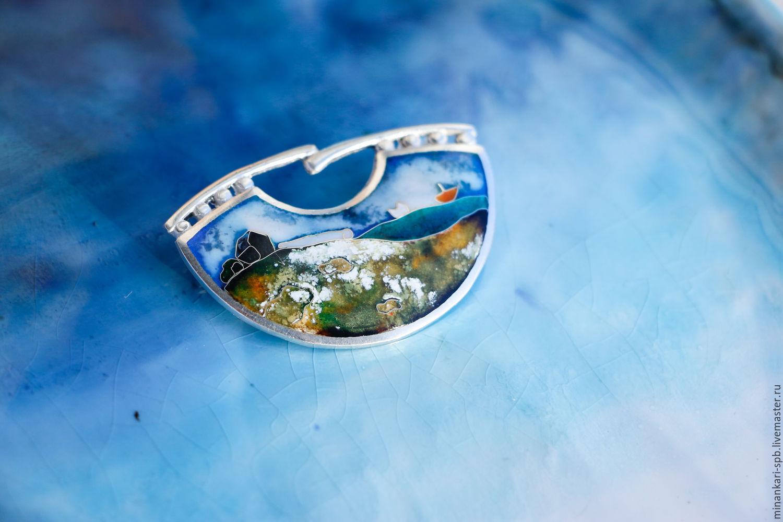 "Брошь ""Форт Сансон"" серебряная с эмалью. Минанкари, Брошь-булавка, Санкт-Петербург,  Фото №1"