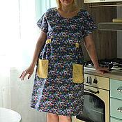 Одежда ручной работы. Ярмарка Мастеров - ручная работа Платье домашнее фиолетовое. Handmade.
