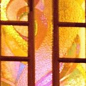 Для дома и интерьера ручной работы. Ярмарка Мастеров - ручная работа Витраж -перегородка-рассвет. Handmade.