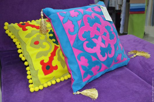 Текстиль, ковры ручной работы. Ярмарка Мастеров - ручная работа. Купить Декоративные подушки. Handmade. Бирюзовый, декоративная подушка
