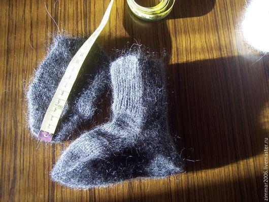Готовые пары Носки детские из темной козьей шерсти (не пух). Связаны на машине, плотные , теплые. размер  12-13 см по стопе, Цена за 1 пару : 350 руб +пересыл