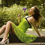 Одежда ручной работы. Ярмарка Мастеров - ручная работа Платье и юбка 2 в 1 вязаное платье вязаная юбка летнее вязаное платье. Handmade.