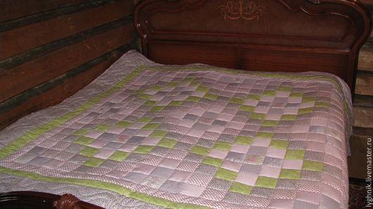 """Текстиль, ковры ручной работы. Ярмарка Мастеров - ручная работа. Купить Лоскутное одеяло """"Прованс"""". Handmade. Лоскутное шитье"""