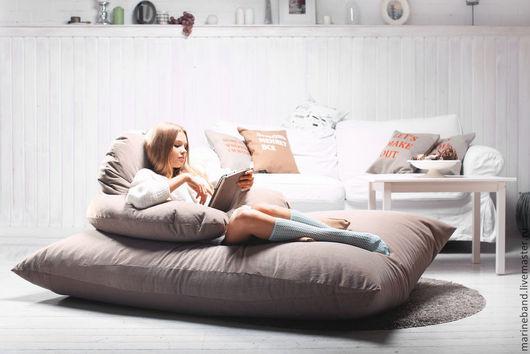 Детская ручной работы. Ярмарка Мастеров - ручная работа. Купить Подушка-диван. Handmade. Кресло, диван, гостиная, отдых, холофайбер