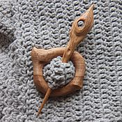 Украшения ручной работы. Ярмарка Мастеров - ручная работа Заколка для шали деревянная. Handmade.