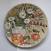 Посуда ручной работы. Ярмарка Мастеров - ручная работа Тарелка подарочная тематическая праздничная. Handmade.