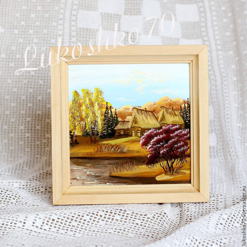 painting on birch bark. Panels of birch bark. Picture of nature. seasons, Pictures, Tomsk,  Фото №1