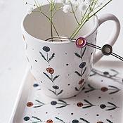 Посуда handmade. Livemaster - original item Northern summer. Mug handmade ceramics. Handmade.