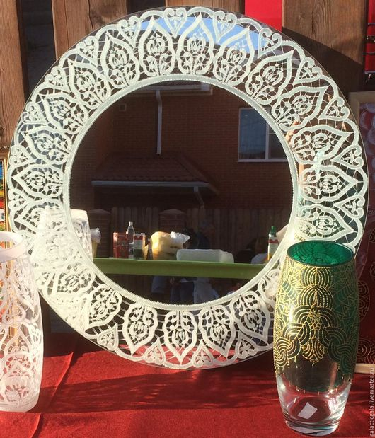 Зеркала ручной работы. Ярмарка Мастеров - ручная работа. Купить Зеркало с кружевом. Handmade. Белый, Зеркало в подарок, кружево для отделки