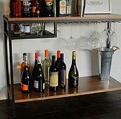 Для дома и интерьера ручной работы. Ярмарка Мастеров - ручная работа Удобный столик для домашнего бара. Handmade.