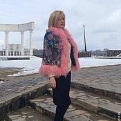 """Одежда ручной работы. Ярмарка Мастеров - ручная работа Куртка с ламой """" Цветочная поляна """" - 4. Handmade."""