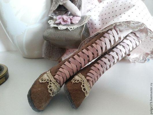 """Одежда для кукол ручной работы. Ярмарка Мастеров - ручная работа. Купить Комплект """"Очарование кружевом"""". Handmade. Бледно-розовый, хольнитены"""