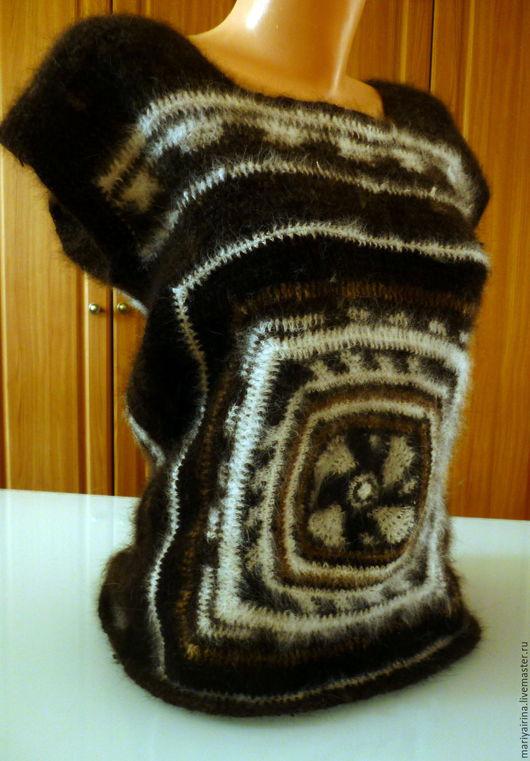 Жилеты ручной работы. Ярмарка Мастеров - ручная работа. Купить жилет из собачьей шерсти. Handmade. Комбинированный, пряжа для вязания