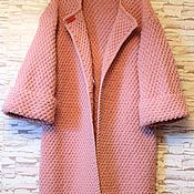 Одежда ручной работы. Ярмарка Мастеров - ручная работа Пальто -кардиган,цвет пудра. Handmade.