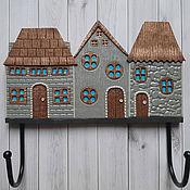 Для дома и интерьера handmade. Livemaster - original item Housekeeper: Housekeeper-hanger Alpine Houses 3. The housekeeper wall.. Handmade.